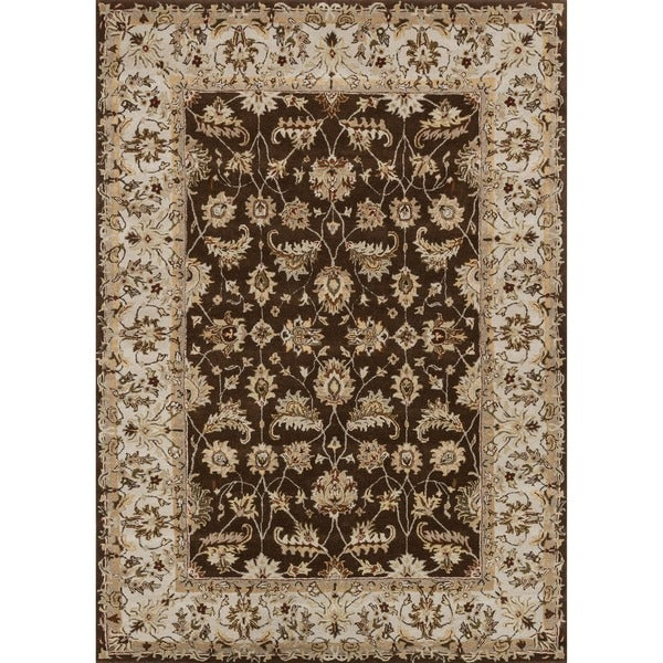 Hand-tufted Aara Brown Wool Rug (7'10 x 11')