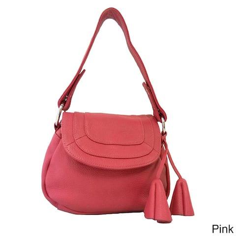 Donna Bella 'Convenience' Leather Shoulder Bag