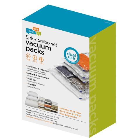 Honey Can Do Vacuum Packs (5-pieces)