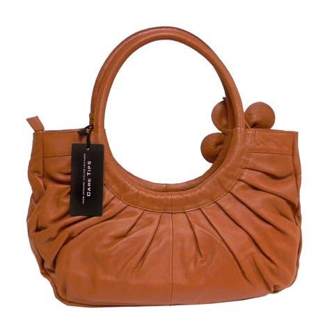 Donna Bella 'Mabel Floral' Leather Shoulder Bag