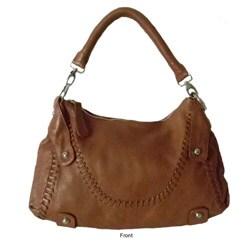 Donna Bella 'Timeless Beauty' Leather Hobo Bag - Thumbnail 1