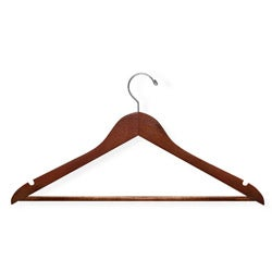 Honey Can Do Cherry Wood Hangers (Case of 24)