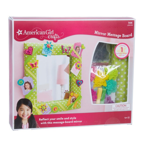 American girl crafts mirror message board kit free for American girl craft kit