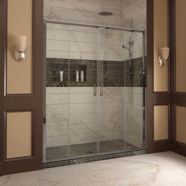 Dreamline Visions 56 To 60 In Frameless Sliding Shower