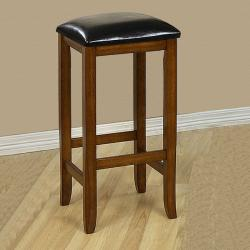 Mission-style 29-inch Oak Barstools (Set of 2) - Thumbnail 1