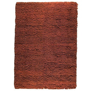 M.A.Trading Hand-woven Berber Brown Wool Rug (4'6 x 6'6)