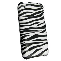 3-piece Zebra Case with Cassette Adapter for Apple iPhone 3GS/ 3G - Thumbnail 1