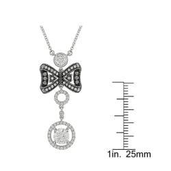 Miadora 18k White Gold 1 1/2ct TDW Diamond Necklace (G-H, SI1-SI2) - Thumbnail 2