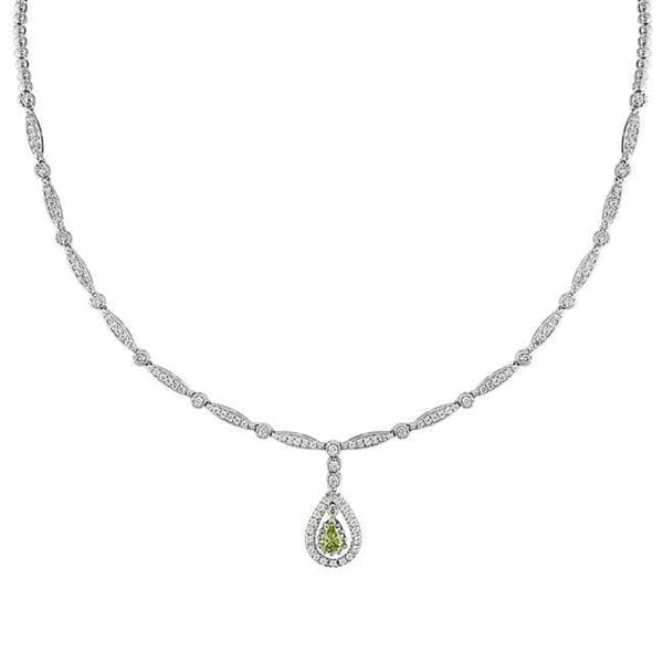 Miadora Signature Collection 14k Gold 2 1/5ct TDW White and Yellow Diamond Necklace