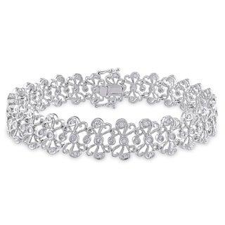 Miadora 14k White Gold 3/4ct TDW Diamond Bracelet