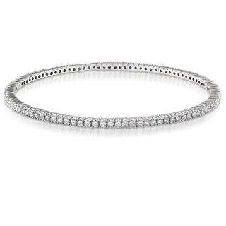 Miadora 14k White Gold 2 3/8ct TDW Diamond Bangle (G-H, SI)