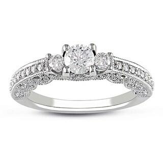 Miadora 14k White Gold 1ct TDW Diamond Wedding-style Ring (G-H, I2-I3)