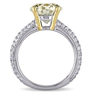 Miadora Signature Collection 14k Gold 3 3/5ct TDW Certified Diamond Engagement Ring