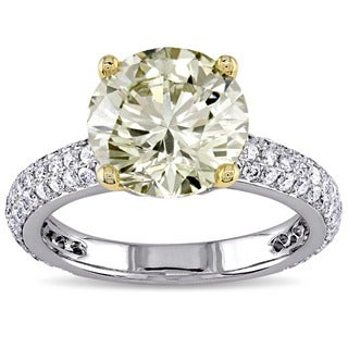 Miadora Signature Collection 14k Gold 3 3 5ct TDW Certified Diamond Engagement Ring