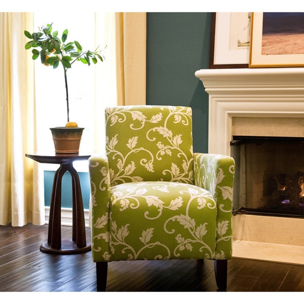 angelo:HOME Sutton Spring Leaf and Cream Vine Arm Chair