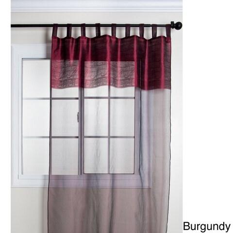 Silk Sheer Tab Top 84-inch Curtain Panel - 42 x 84