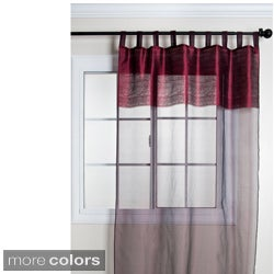 Silk Sheer Tab Top 84-inch Curtain Panel