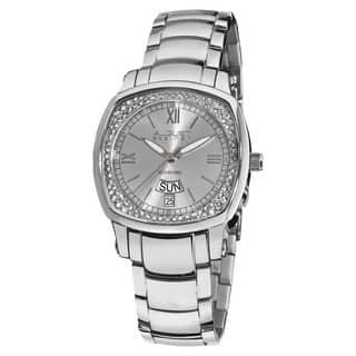August Steiner Women's Day Date Diamond Steel Bracelet Watch|https://ak1.ostkcdn.com/images/products/5583480/P13349937.jpg?impolicy=medium