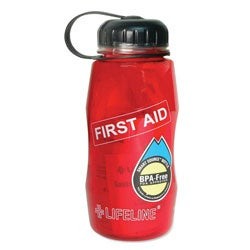 BPA-free 26-oz First Aid in a Bottle Kit