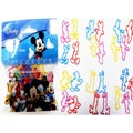 Character Bandz 'Disney: Mickey' Characters Shaped Silicone Kids Bracelets (2 packs).