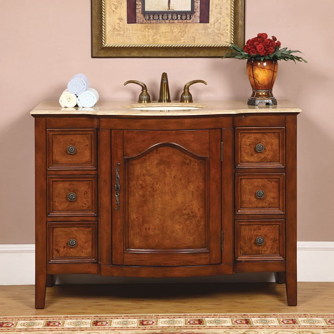 silkroad exclusive imperial 48 inch single sink bathroom vanity free
