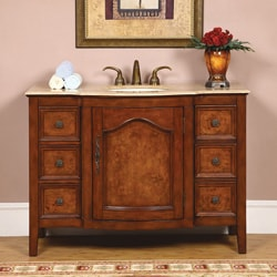 Silkroad Exclusive Imperial 48-inch Single Sink Bathroom Vanity
