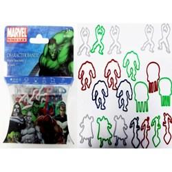 Character Bandz 'Marvel: The Hulk' Characters Shaped Silicone Kids Bracelets (2 packs).