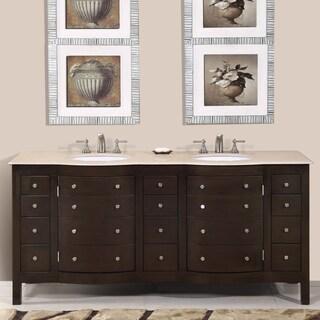 Silkroad Exclusive Pomona 72-inch Double Sink Bathroom Vanity