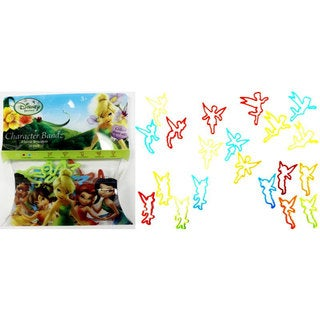 Character Bandz 'Disney: Fairies' Characters Shaped Silicone Kids Bracelets (2 packs).