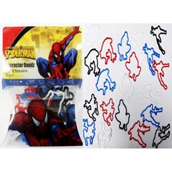 Character Bandz 'Marvel: Spider-Man' Characters Shaped Silicone Kids Bracelets (2 packs).