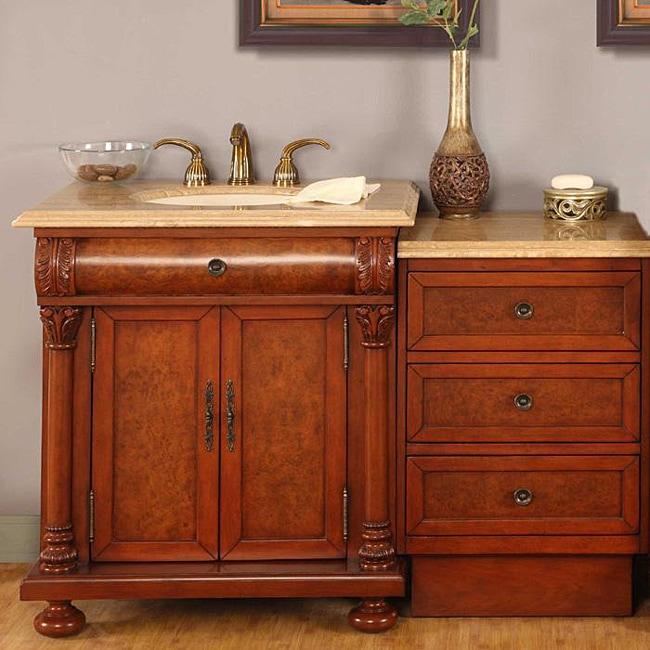 Silkroad Exclusive Mendocino 53-inch Single Sink LED Module Bathroom Vanity