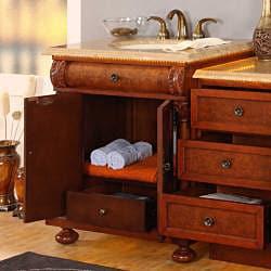 Shop Silkroad Exclusive Mendocino 53-inch Single Sink LED ...