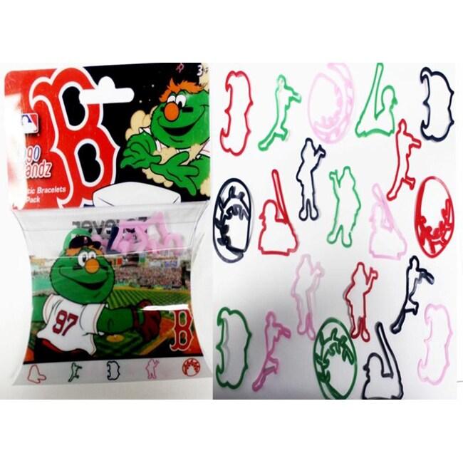 Logo Bandz 'Boston' Characters Shaped Silicone Kids Bracelets (2 packs).