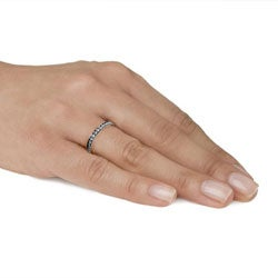 Stainless Steel Stackable Cubic Zirconia Eternity Band - Thumbnail 2