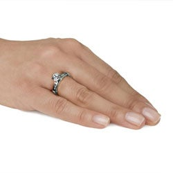 Stainless Steel Cubic Zirconia Engagement Ring Free Shipping On