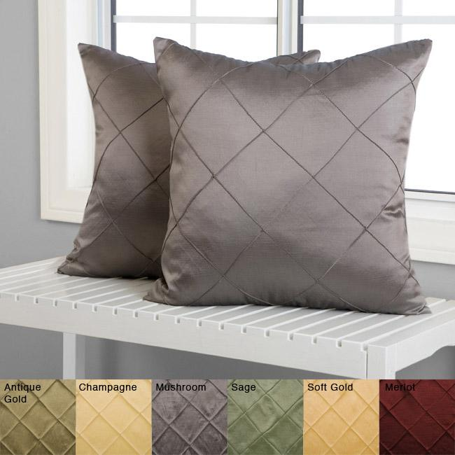 soft decorative pillows. Diamond Pintuck 18 inch Decorative Pillows  Set of 2 Free