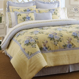 Laura Ashley Caroline 4-piece Comforter Set|https://ak1.ostkcdn.com/images/products/5583709/P13350102.jpg?impolicy=medium
