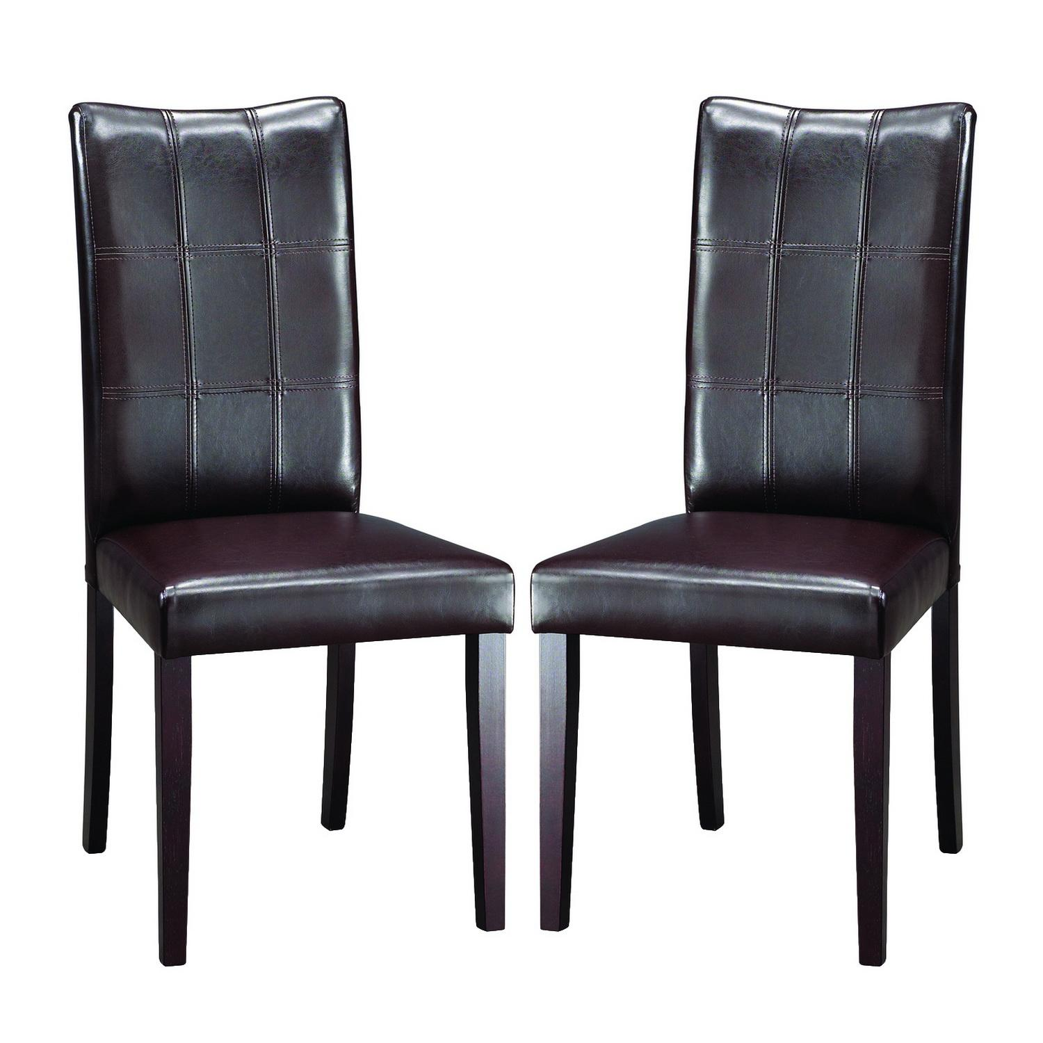 Eugene Dark Brown Modern Dining Chairs (Set Of 2) Free Shipping . Full resolution‎  photograph, nominally Width 1500 Height 1500 pixels, photograph with #586773.