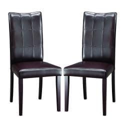 Eugene Dark Brown Modern Dining Chairs (Set of 2)