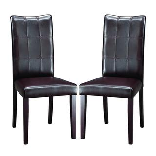 contemporary dining chairs leather. Eugene Dark Brown Modern Dining Chairs (Set Of 2) Contemporary Leather N