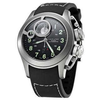Hamilton Men's 'Khaki Navy' Titanium and Rubber Automatic Watch