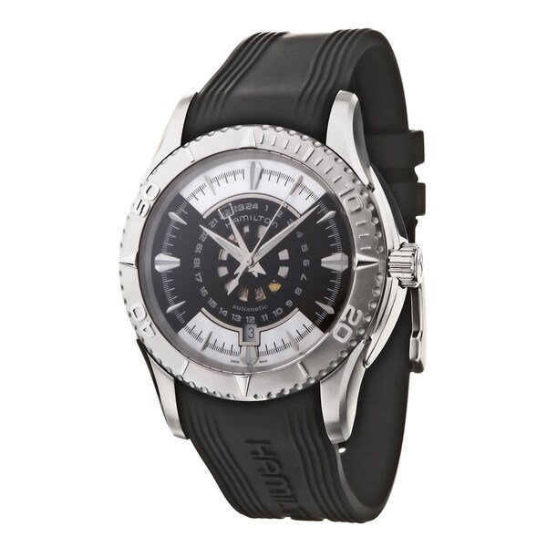 Hamilton Men's 'Seaview' Stainless Steel and Rubber Automatic Watch