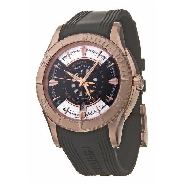Hamilton Men's 'Seaview' Rose Goldtone Steel, Rubber Automatic Watch
