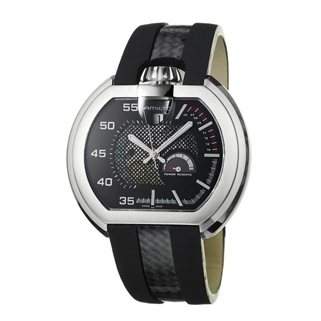 Hamilton Men's 'US 66' Stainless Steel and Leather Automatic Watch