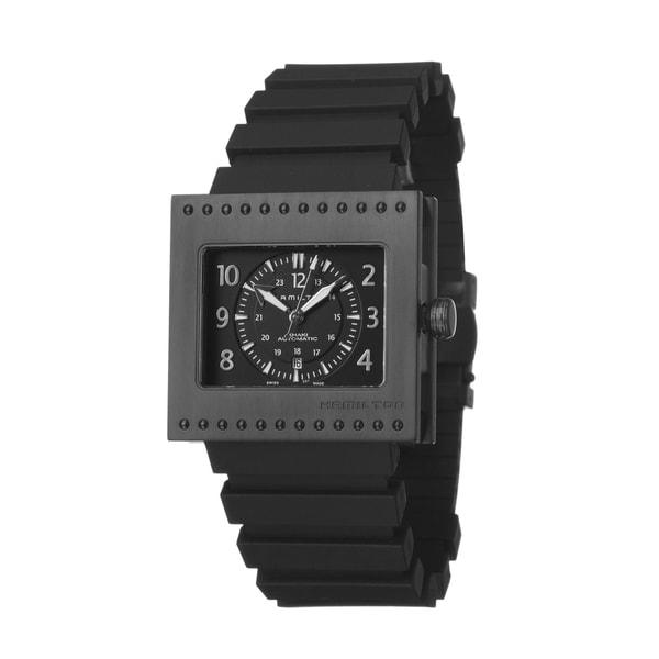 Hamilton Men's 'Khaki Action' PVD Titanium and Rubber Automatic Watch