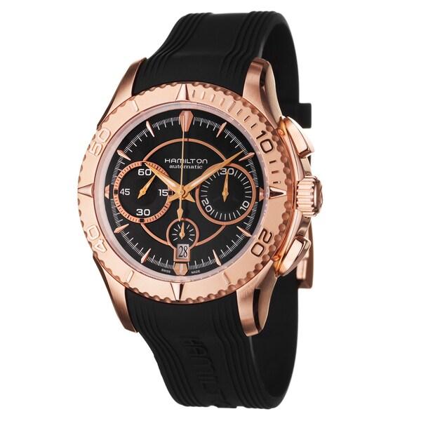 Hamilton Men's 'Seaview' Rose Goldtone Steel Watch