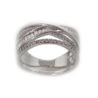 NEXTE Jewelry Silvertone Cubic Zirconia Swirl Ring