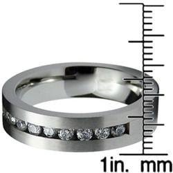 Men's Stainless-Steel Cubic Zirconia Ring - Thumbnail 2