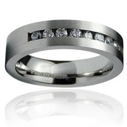 Men's Stainless-Steel Cubic Zirconia Ring