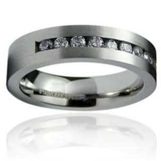 Men's Stainless-Steel Cubic Zirconia Ring